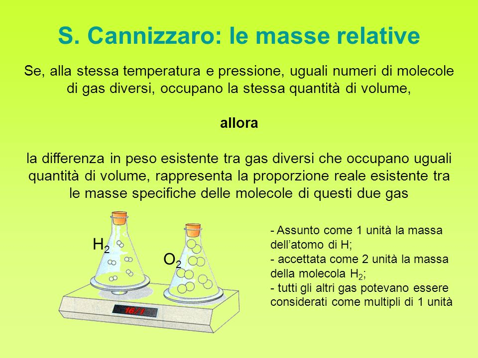 S. Cannizzaro: le masse relative