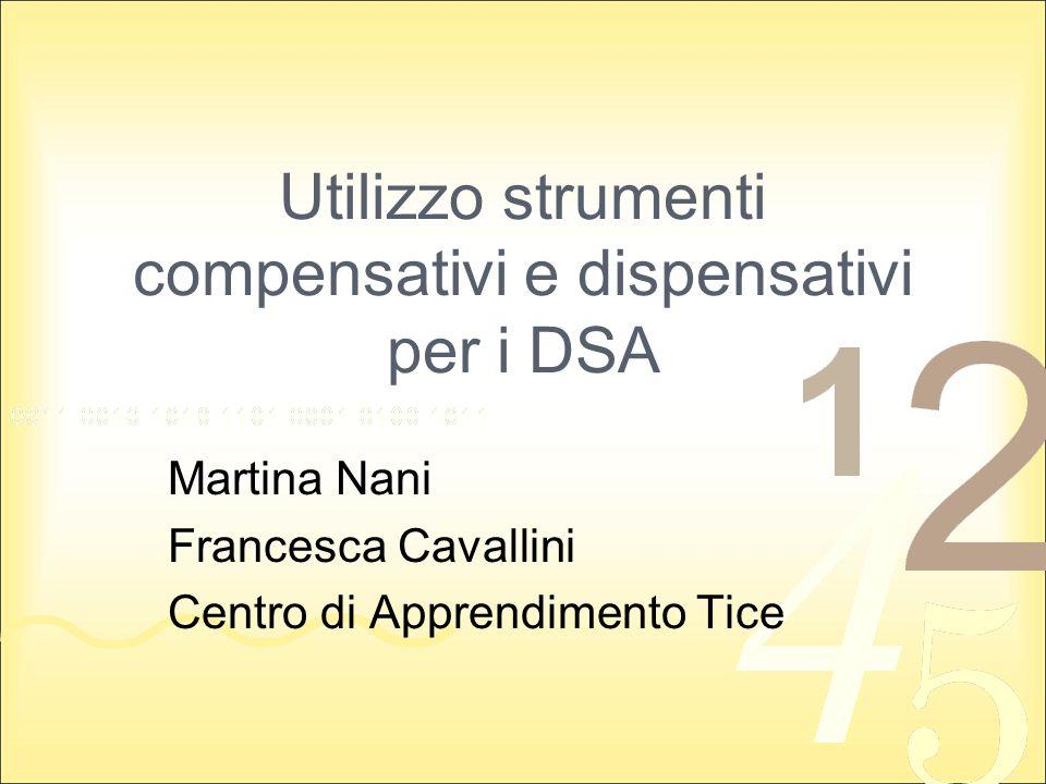 Utilizzo strumenti compensativi e dispensativi per i DSA