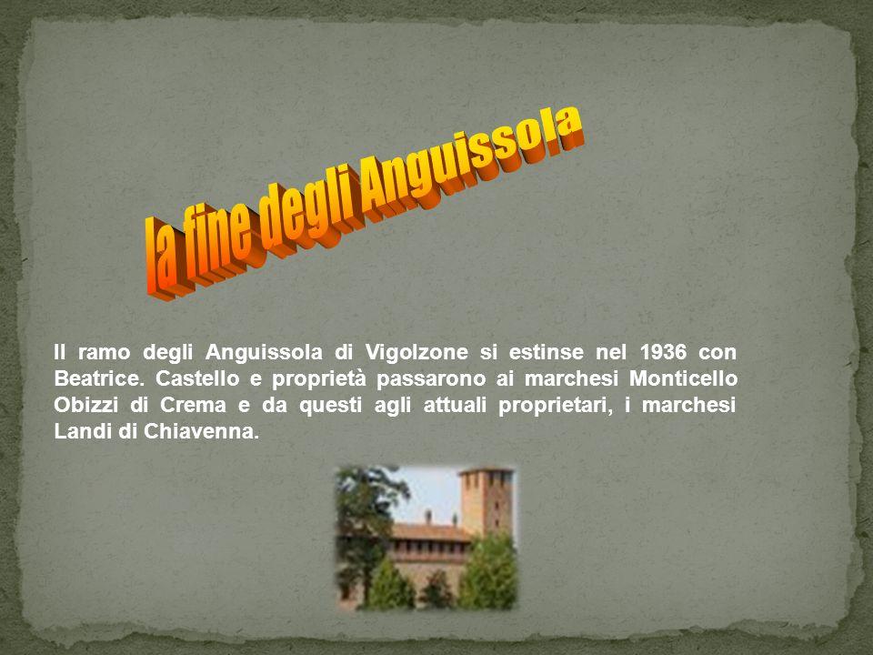la fine degli Anguissola