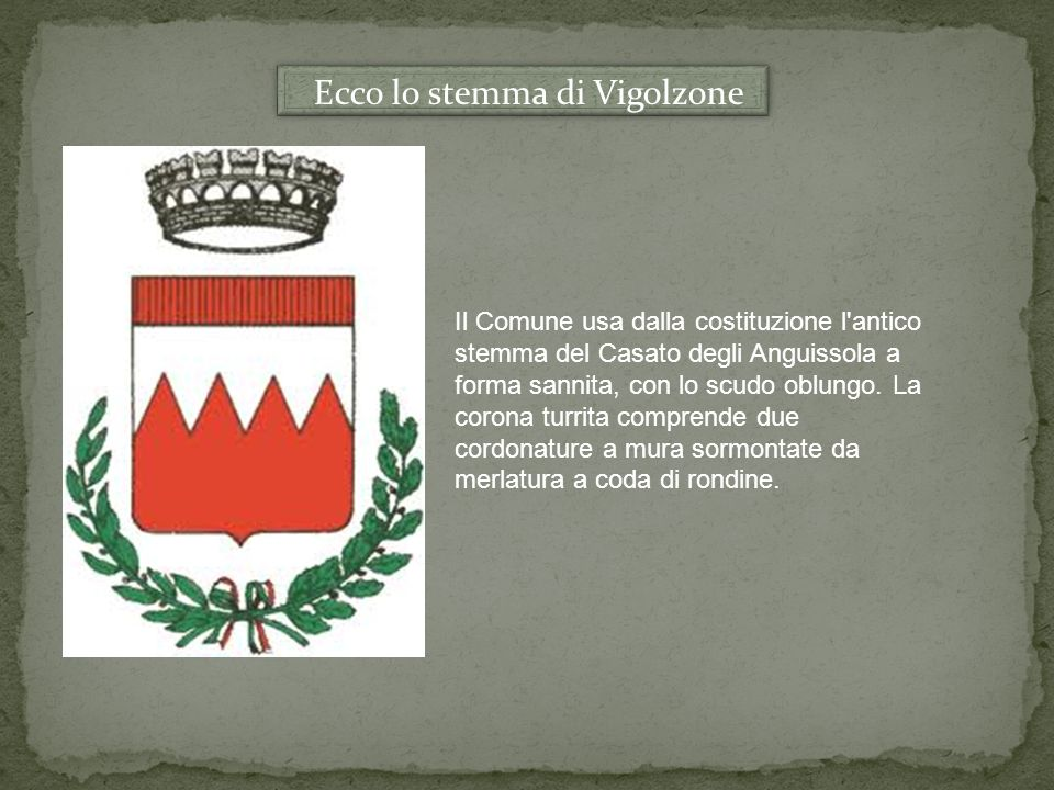 Ecco lo stemma di Vigolzone