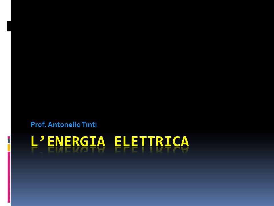 Prof. Antonello Tinti L'energia elettrica