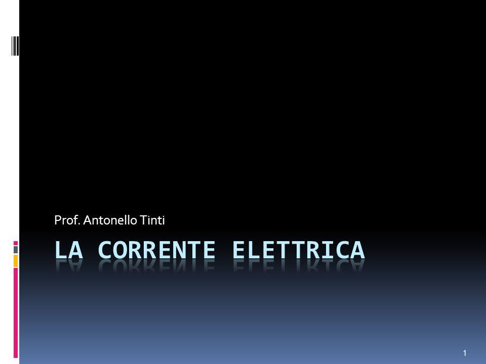 Prof. Antonello Tinti La corrente elettrica