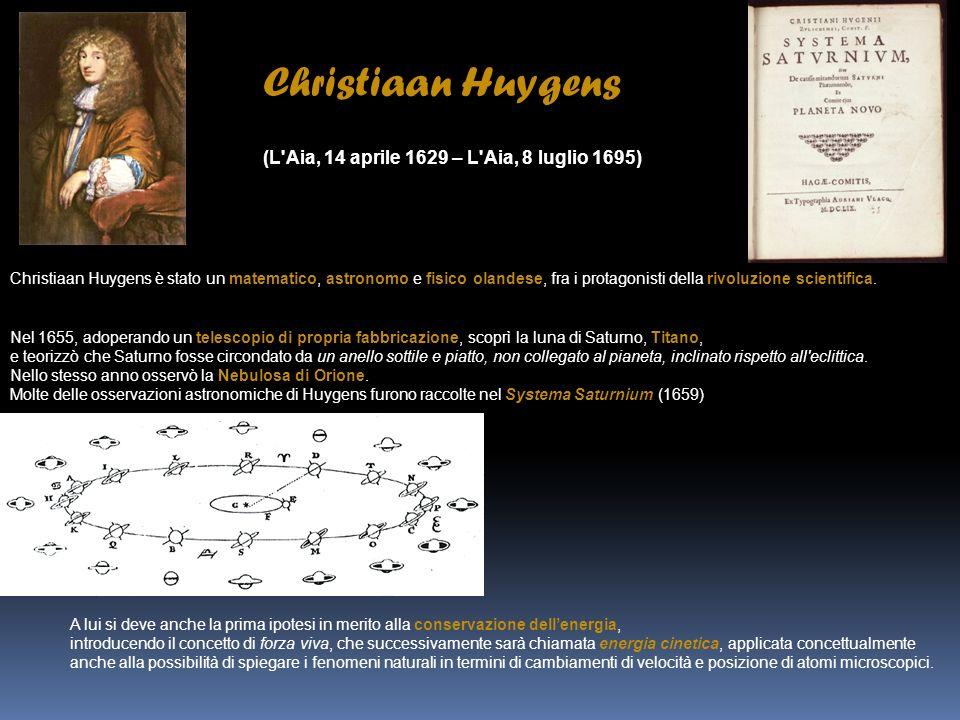 Christiaan Huygens (L Aia, 14 aprile 1629 – L Aia, 8 luglio 1695)
