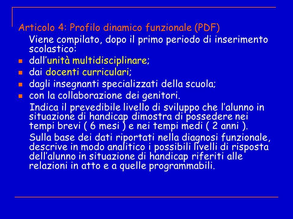 Articolo 4: Profilo dinamico funzionale (PDF)