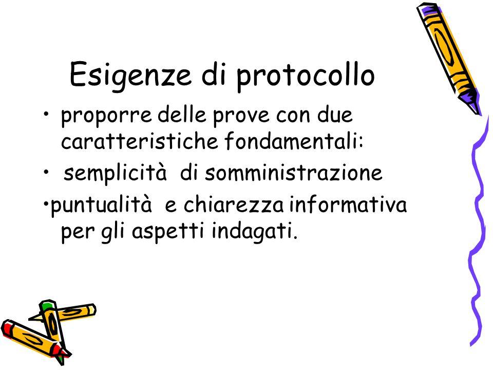 Esigenze di protocollo
