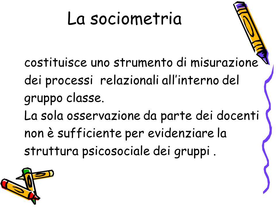 La sociometria costituisce uno strumento di misurazione