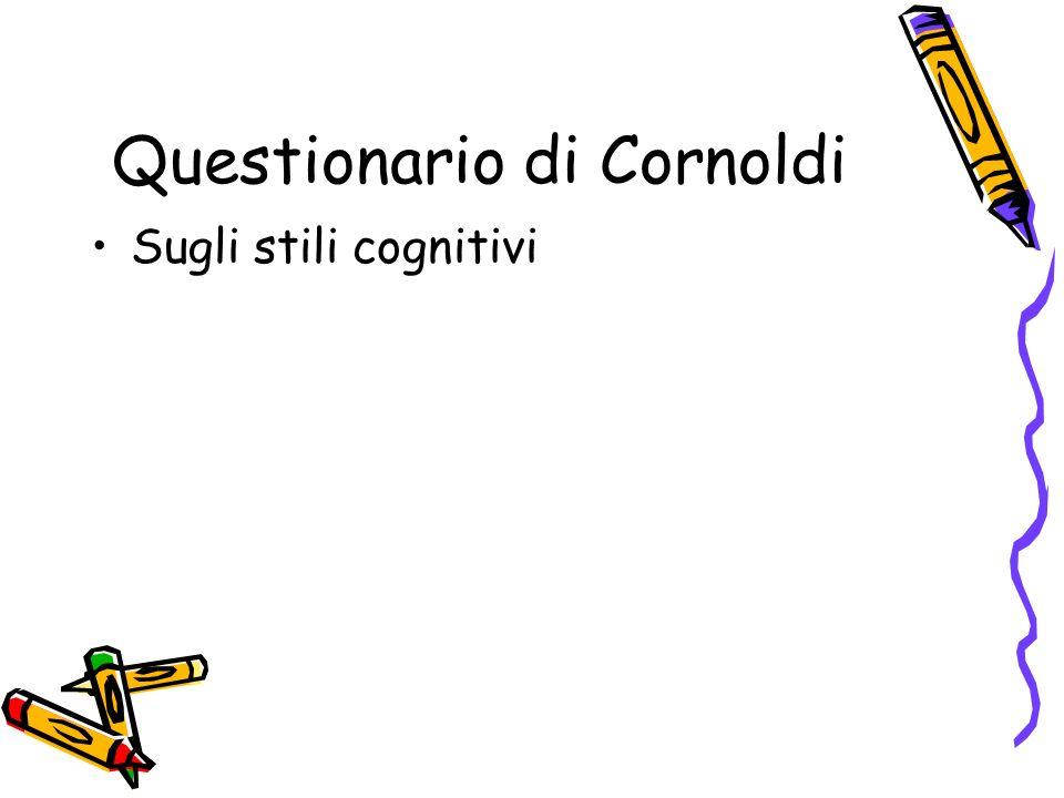 Questionario di Cornoldi