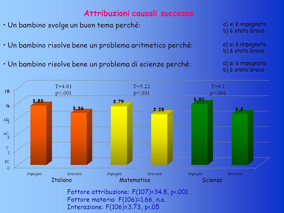 Attribuzioni causali successo