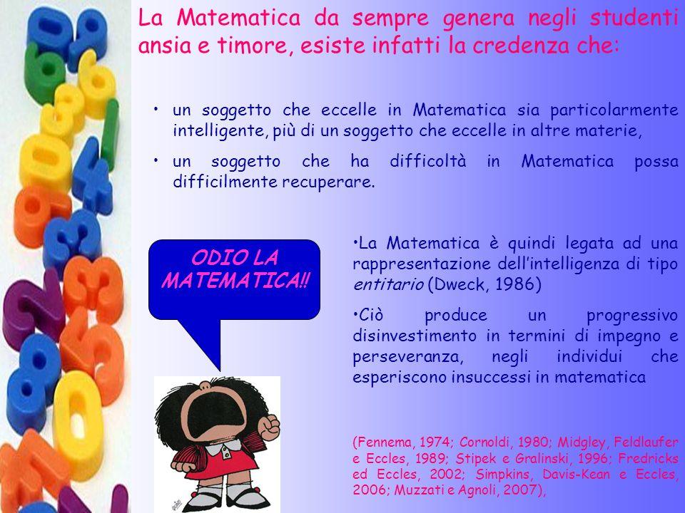 La Matematica da sempre genera negli studenti ansia e timore, esiste infatti la credenza che:
