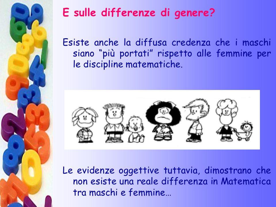 E sulle differenze di genere