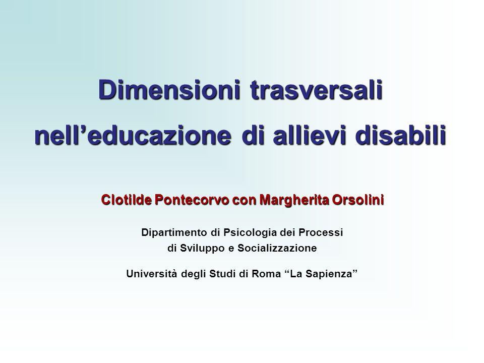 Dimensioni trasversali nell'educazione di allievi disabili
