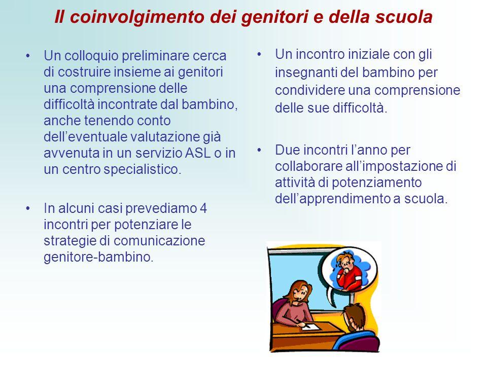 Il coinvolgimento dei genitori e della scuola