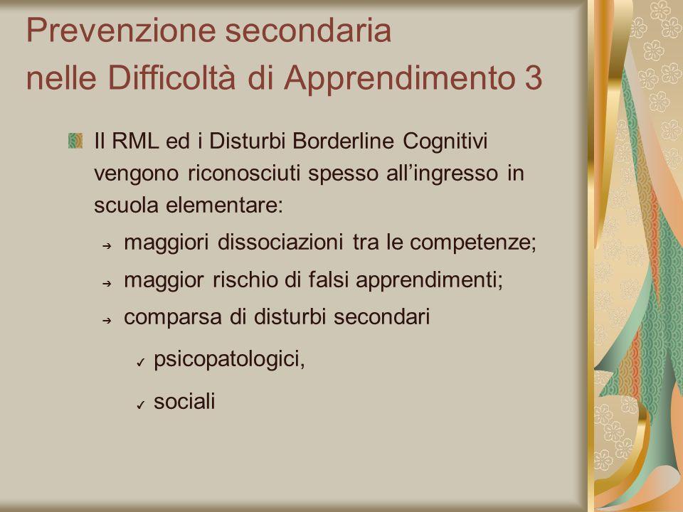 Prevenzione secondaria nelle Difficoltà di Apprendimento 3