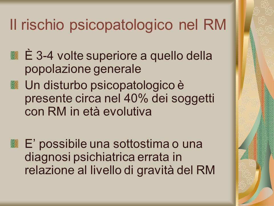 Il rischio psicopatologico nel RM