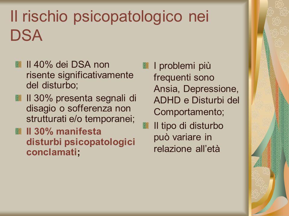 Il rischio psicopatologico nei DSA