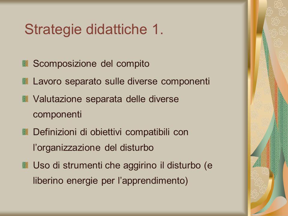 Strategie didattiche 1. Scomposizione del compito