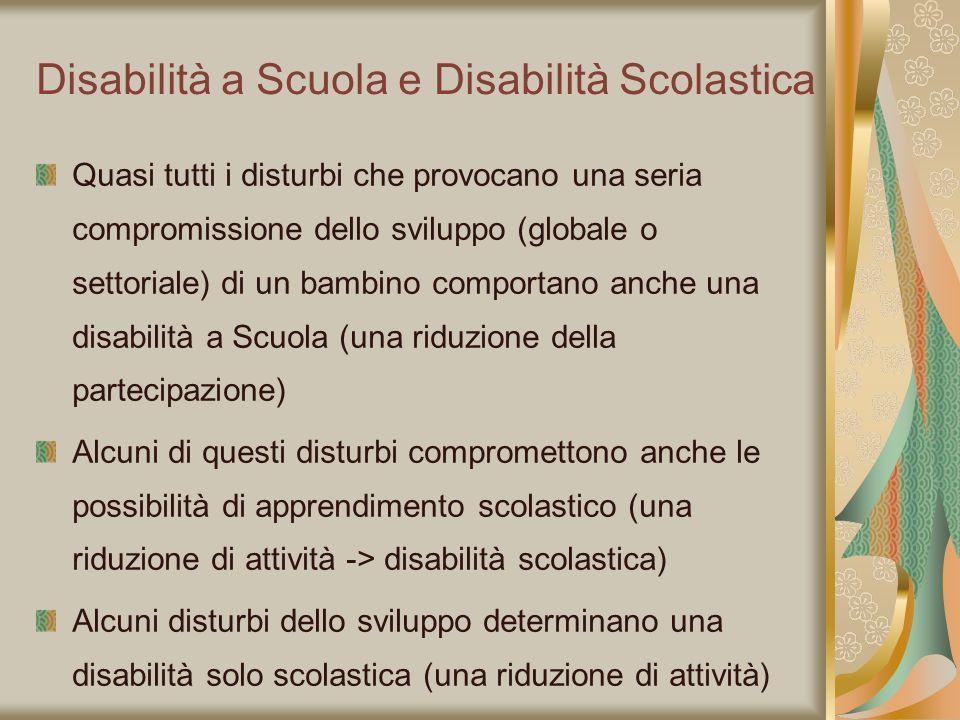 Disabilità a Scuola e Disabilità Scolastica