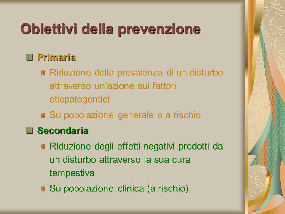 Obiettivi della prevenzione