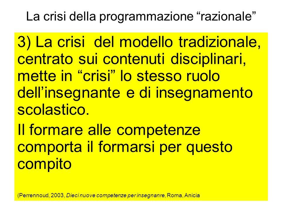 La crisi della programmazione razionale