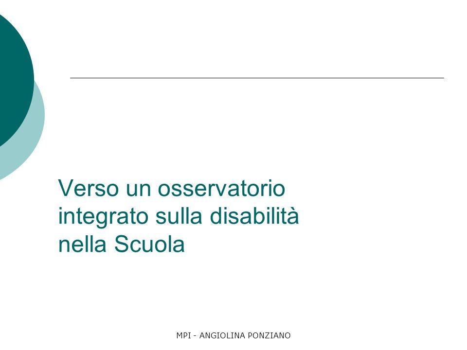 Verso un osservatorio integrato sulla disabilità nella Scuola