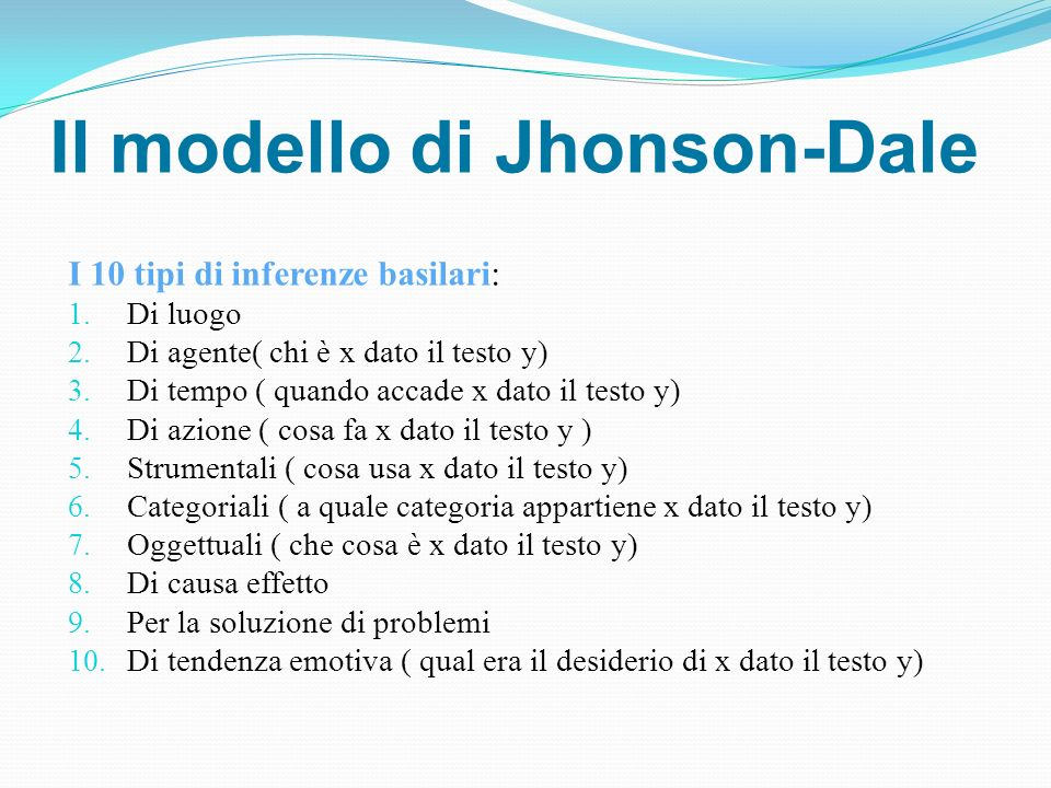 Il modello di Jhonson-Dale