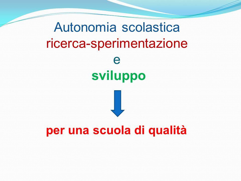 Autonomia scolastica ricerca-sperimentazione e sviluppo