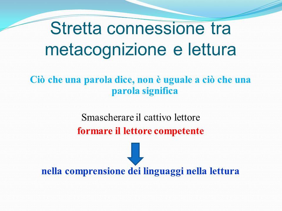 Stretta connessione tra metacognizione e lettura