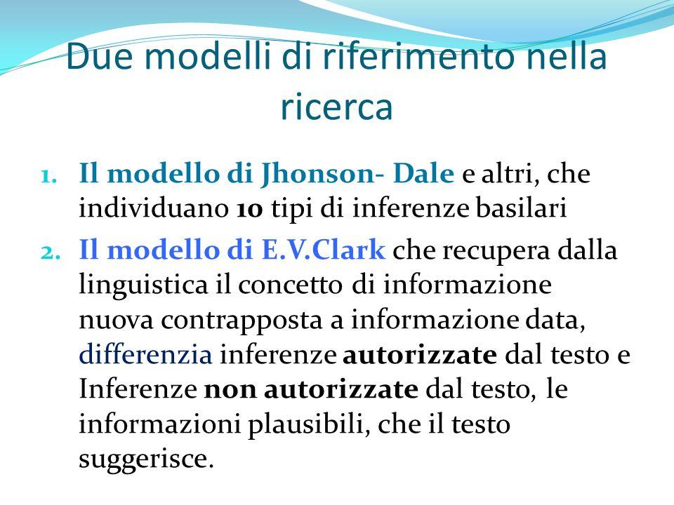 Due modelli di riferimento nella ricerca