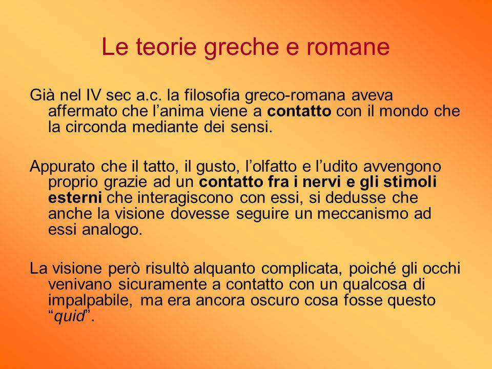 Le teorie greche e romane