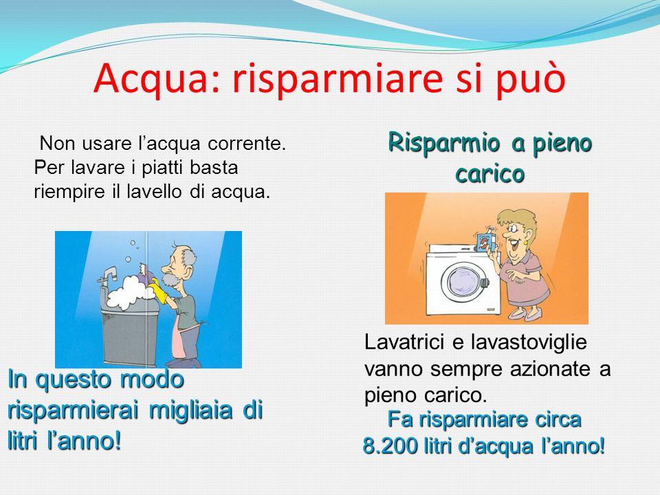 Acqua: risparmiare si può
