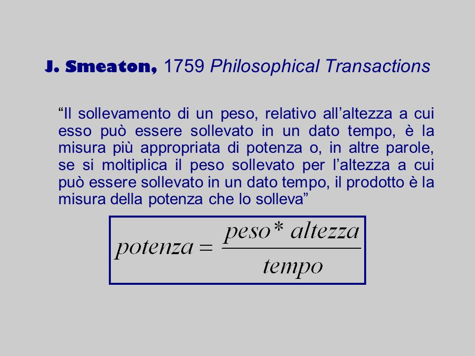 J. Smeaton, 1759 Philosophical Transactions