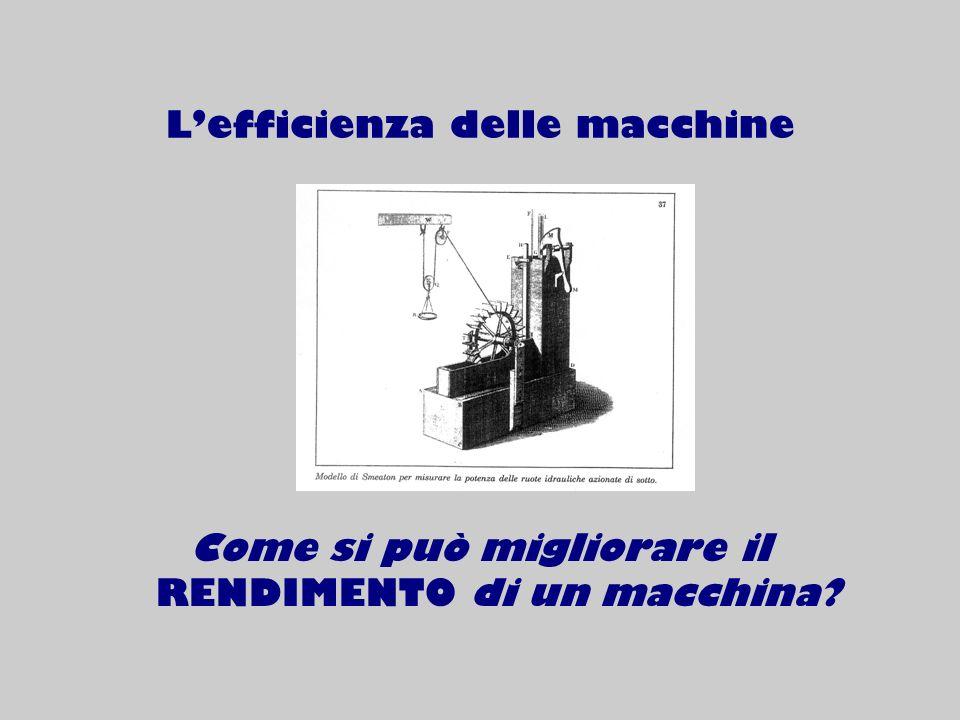 L'efficienza delle macchine