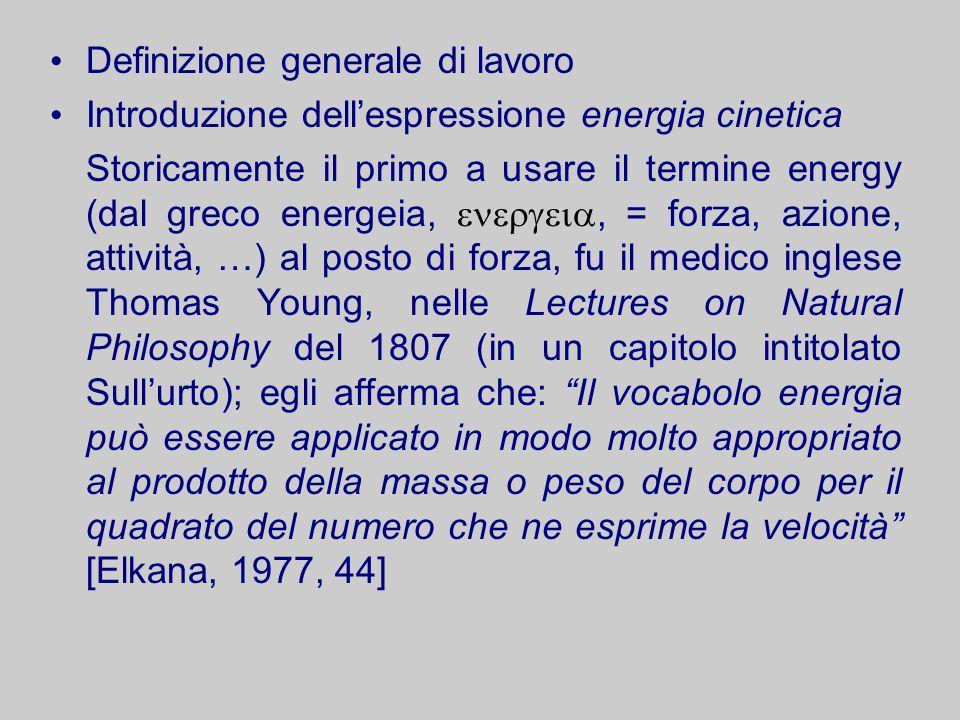 Definizione generale di lavoro