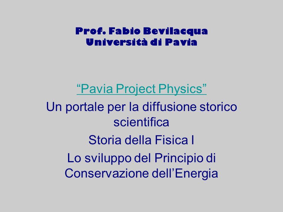 Prof. Fabio Bevilacqua Università di Pavia