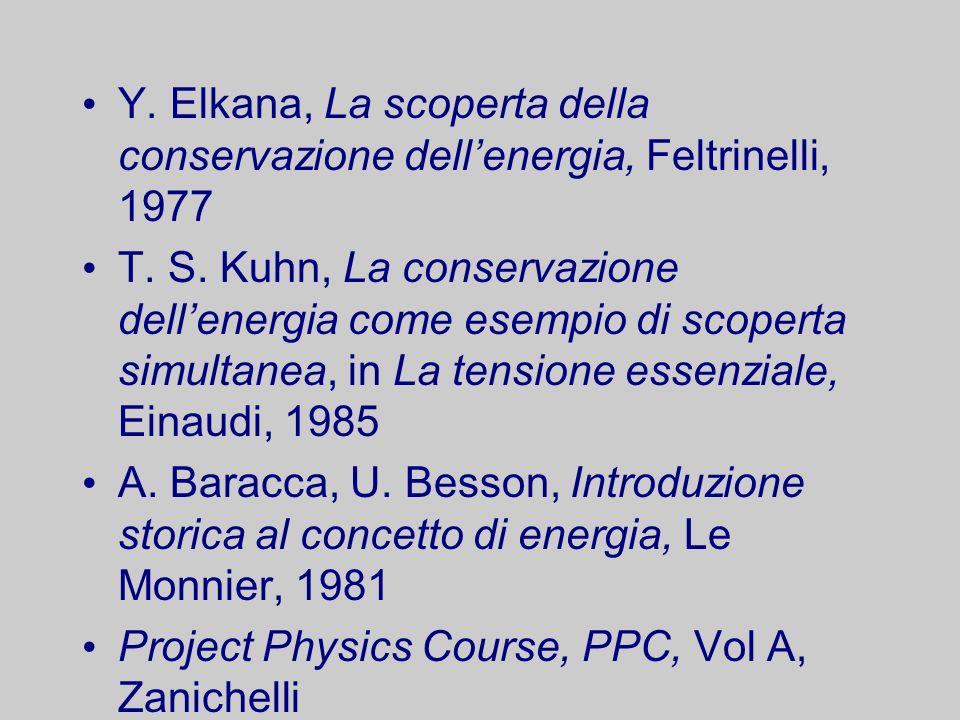 Y. Elkana, La scoperta della conservazione dell'energia, Feltrinelli, 1977