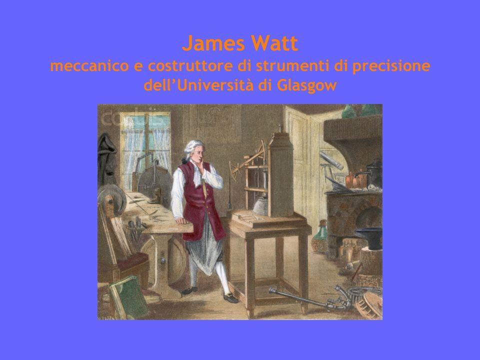James Watt meccanico e costruttore di strumenti di precisione dell'Università di Glasgow