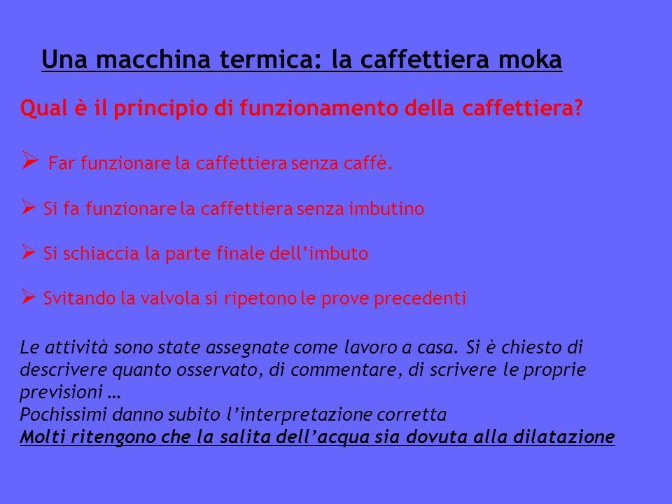 Una macchina termica: la caffettiera moka