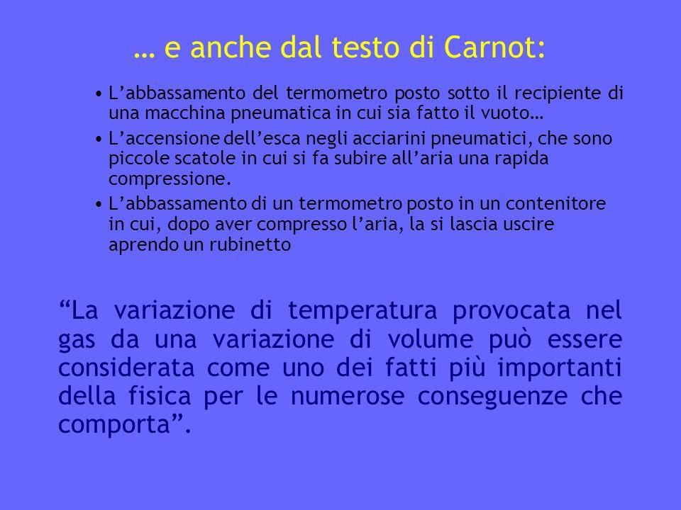 … e anche dal testo di Carnot: