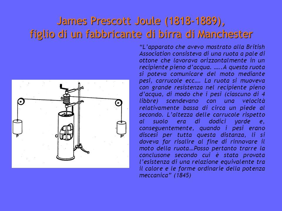 James Prescott Joule (1818-1889), figlio di un fabbricante di birra di Manchester