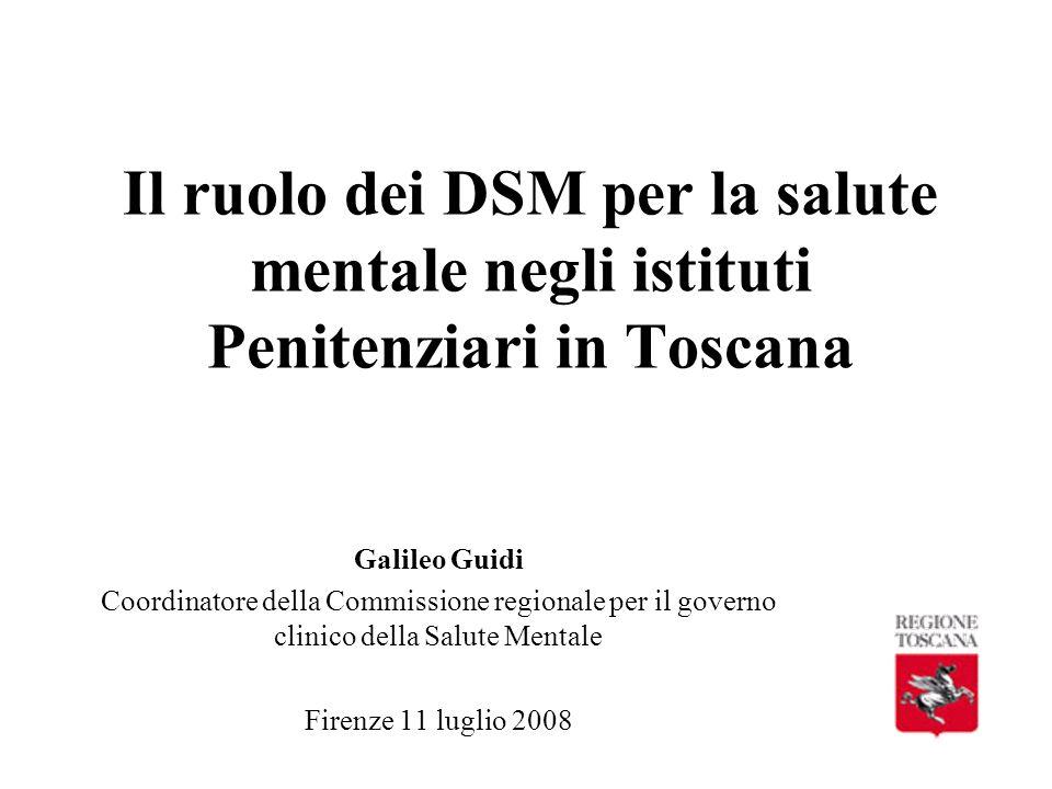 Il ruolo dei DSM per la salute mentale negli istituti Penitenziari in Toscana