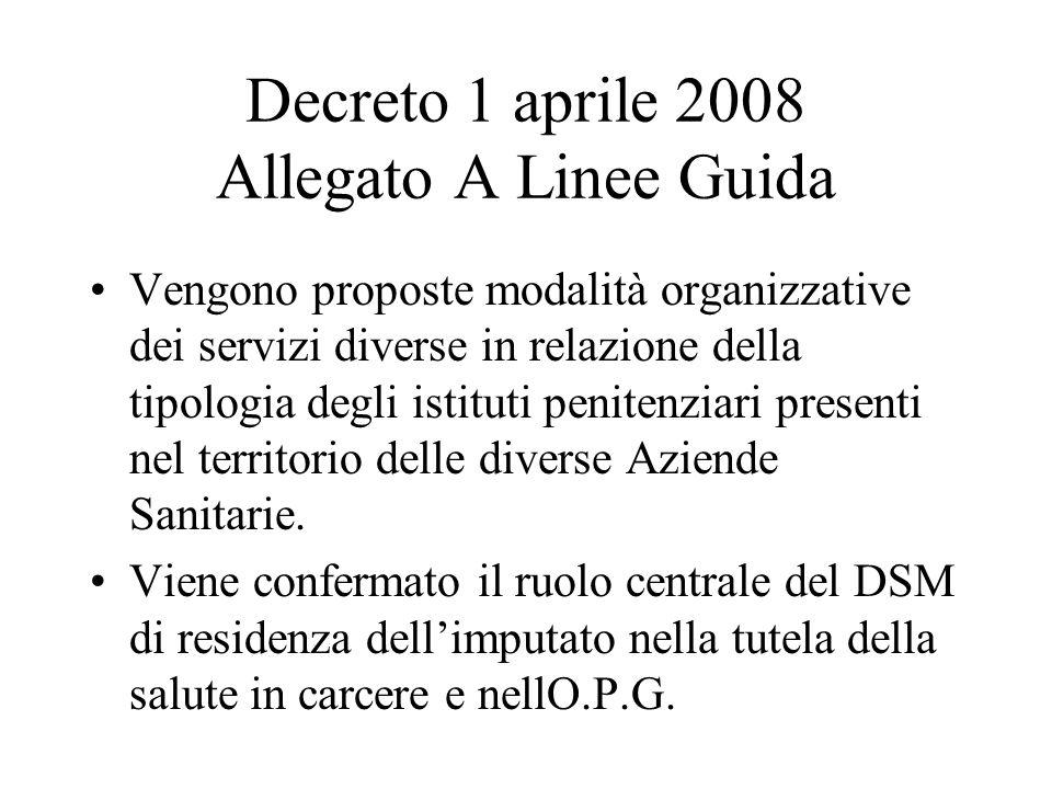 Decreto 1 aprile 2008 Allegato A Linee Guida