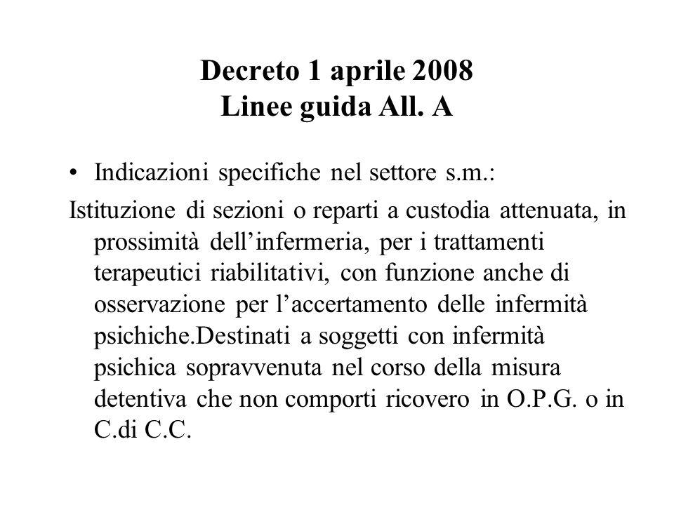 Decreto 1 aprile 2008 Linee guida All. A