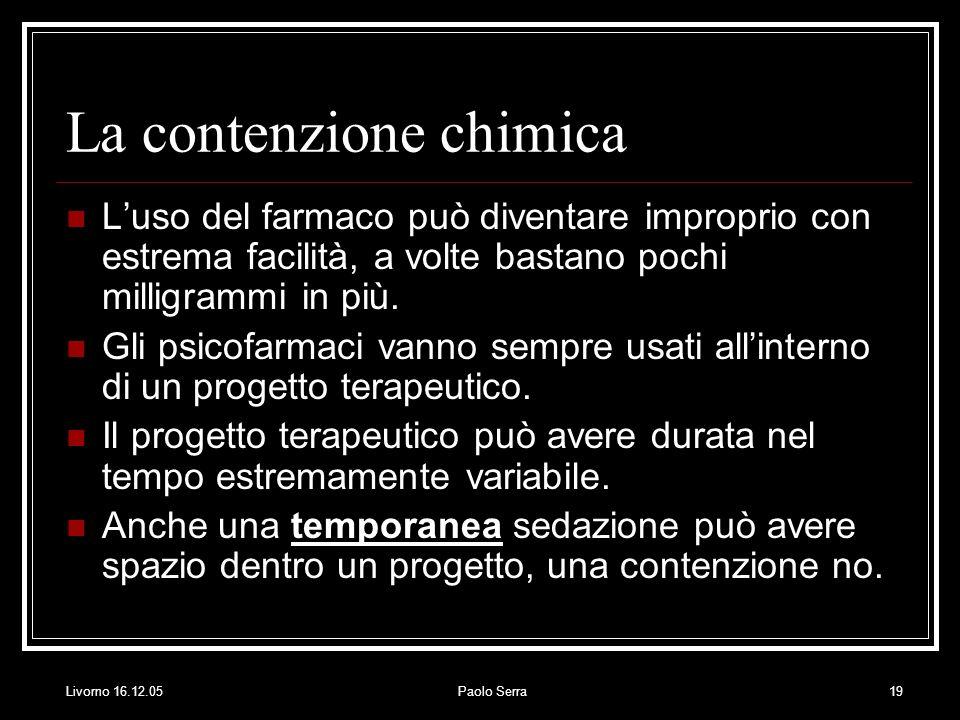 La contenzione chimica