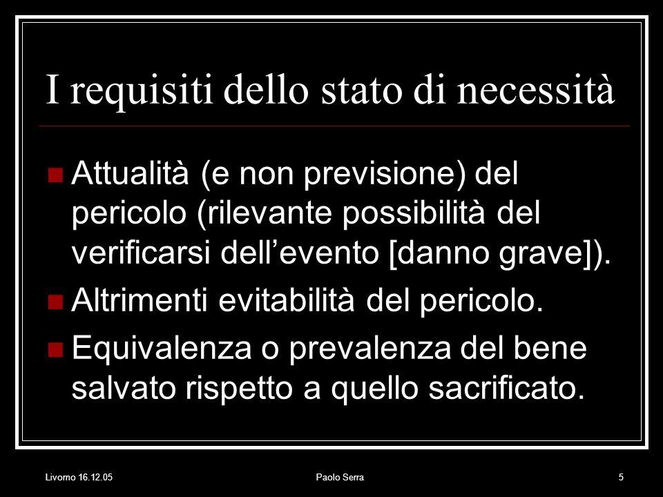 I requisiti dello stato di necessità