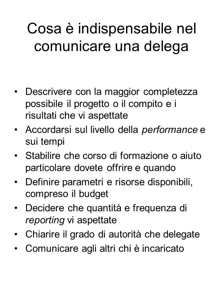 Cosa è indispensabile nel comunicare una delega
