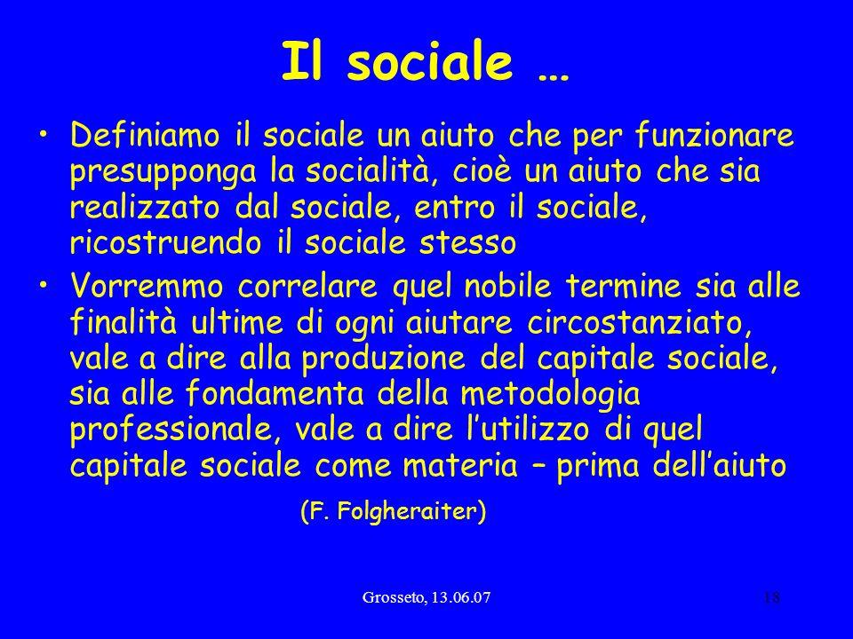 Il sociale …