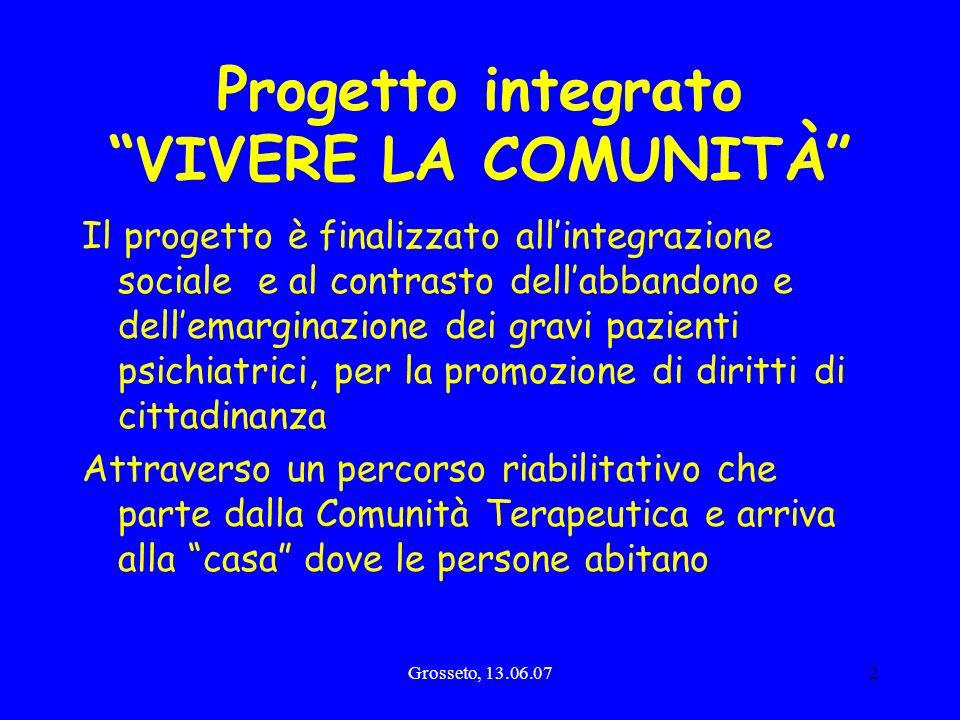 Progetto integrato VIVERE LA COMUNITÀ