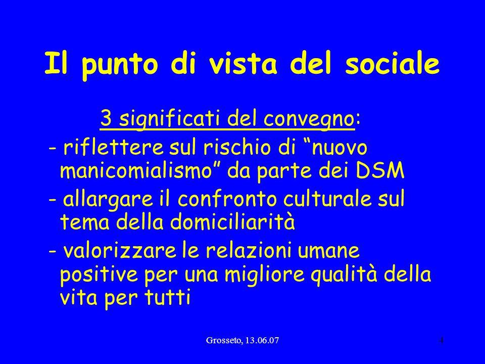 Il punto di vista del sociale