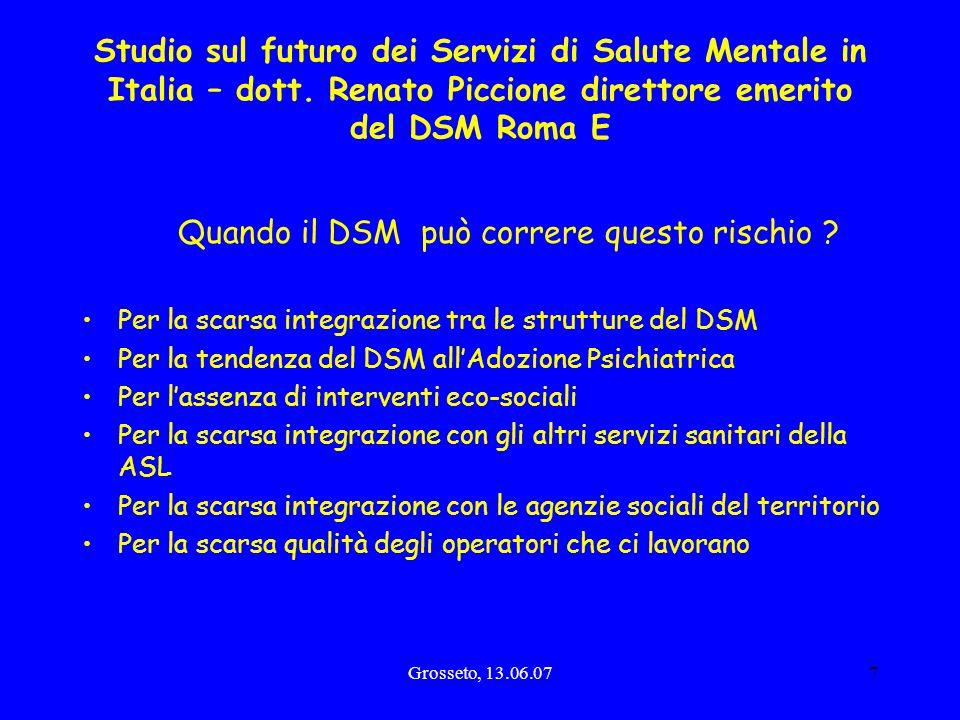 Studio sul futuro dei Servizi di Salute Mentale in Italia – dott
