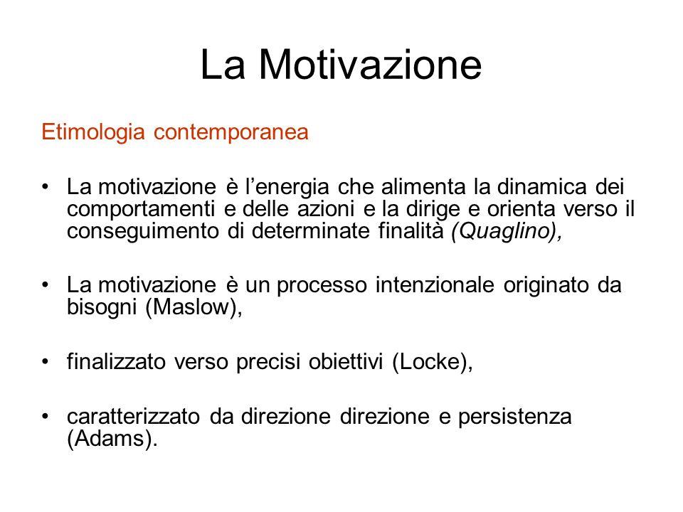 La Motivazione Etimologia contemporanea